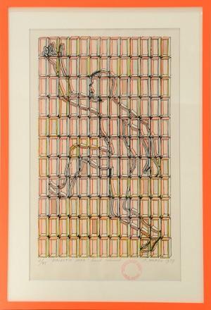 ルーマニア 〈Dialectic Man〉 1979年 リトグラフ Paul Neagu