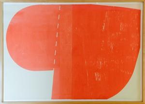 アイルランド 〈Big Orange〉 2003年 木版画 Richard Gorman