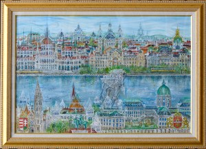 ハンガリー 〈Imagination of the City of Budapest〉 2011年 油彩 Michael Coudenhove-Kalergi